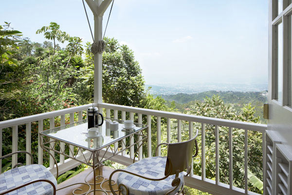 A picture of the view from Strawberry Hill Resort the best place for a Caribbean vacation. St Andrew Jamaica